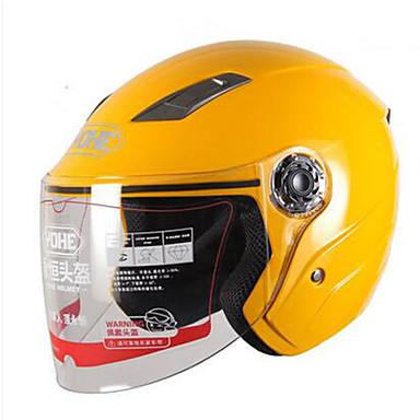 Halvhjelm Slimfit Kompakt Pustende Beste kvalitet Halv Skall Sport ABS Motorsykkel Hjelmer