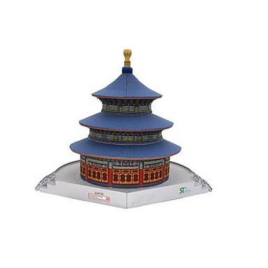 Quebra-Cabeças 3D Maquetes de Papel Artesanato de Papel Brinquedos de Montar Construções Famosas Arquitetura Chinesa Arquitetura templo
