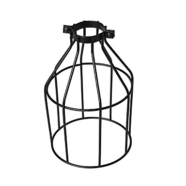 Vintage teollinen diy musta metalli lintu häkki lamppu sävy valaisin kansi riipus valot seinävalot korvaavan lampun kansi