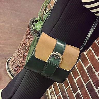 Women's Bags PU Crossbody Bag for Casual Outdoor All Seasons Green Black Yellow