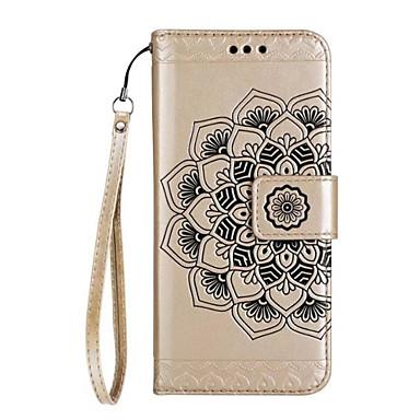 Capinha Para Samsung Galaxy J7 Prime / J5 Prime Carteira / Porta-Cartão / Flip Capa Proteção Completa Mandala / Flor Rígida PU Leather para J7 Prime / J7 (2016) / J5 Prime