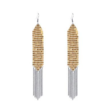 Dame dusk Dingle Øredobber - Personalisert dusk Euro-Amerikansk Mote Gull Sølv Regnbue Geometrisk Form øredobber Til Avslappet