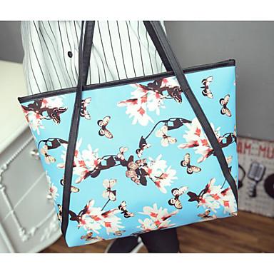 Women Travel Bag PU All Seasons Casual Outdoor Round Zipper Blue Black Yellow