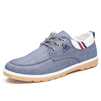 Men's Denim Spring / Fall Casual / Comfort Sneakers Walking Shoes Gray / Blue / Light Blue
