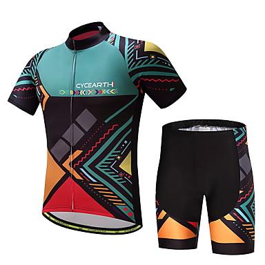 Homens Manga Curta Camisa com Shorts para Ciclismo Moto Conjuntos de Roupas