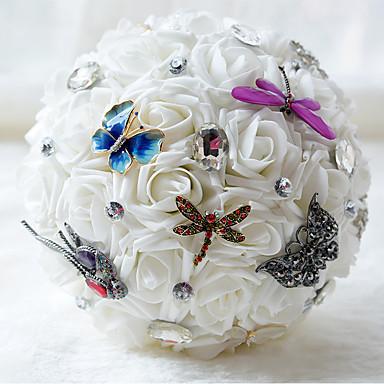 Wedding Flowers Bouquets Wedding Chiffon Bead Satin 8.27