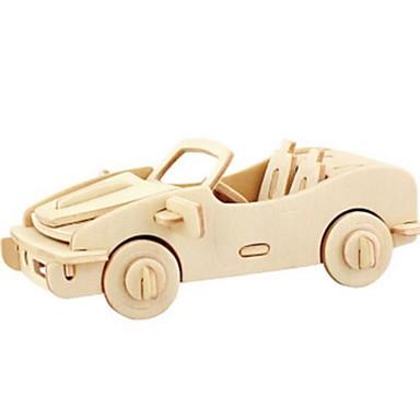 3D Puzzles Jigsaw Puzzle Model Building Kits Wood Model Toys Car 3D Animals DIY Wood Natural Wood Unisex Pieces