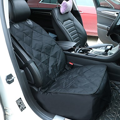 Cat Dog Car Seat Cover Pet Carrier Waterproof Portable Foldable Solid Colored Black