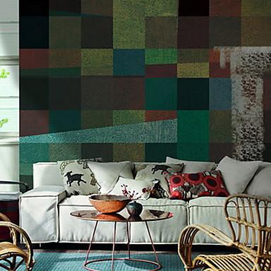 Flise Mønster Tapet til Hjemmet Moderne Tapetsering , U-vevet stoff Materiale selvklebende nødvendig Veggmaleri , Tapet