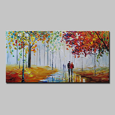 Oil Painting Hand Painted - Landscape Abstract Modern Canvas
