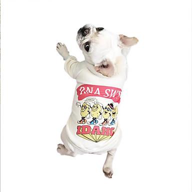 Cachorro Camiseta Roupas para Cães Respirável Casual Carta e Número Branco Cinzento Verde Ocasiões Especiais Para animais de estimação
