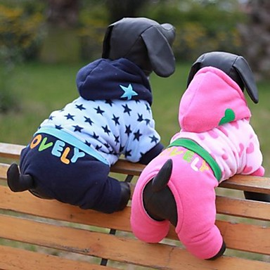 Dog Costume Dog Clothes Cosplay Stars Blue Blushing Pink
