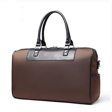 Men Travel Bag PU All Seasons Casual Outdoor Round Zipper Blue Black Coffee