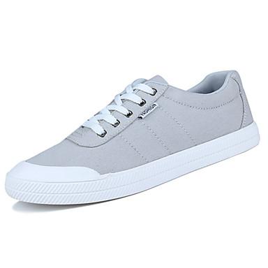 Herre sko PU Vår Høst Komfort Treningssko Snøring til Avslappet Svart Grå Grønn