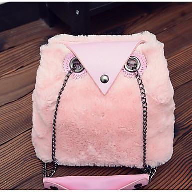 Women Shoulder Bag PU All Seasons Casual Outdoor Round Button White Blushing Pink Gray