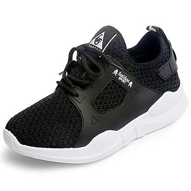 Mulheres Sapatos Couro Ecológico Primavera Verão Conforto Tênis Salto Baixo para Casual Branco Preto Vermelho