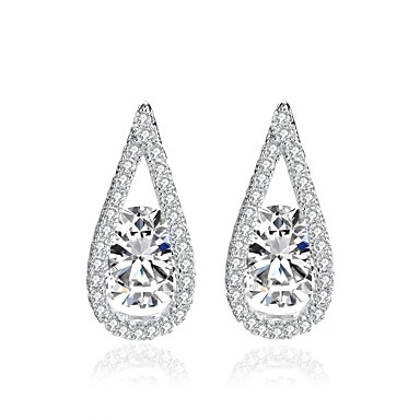 Women's Stud Earrings Classic Fashion Alloy Drop Jewelry White Wedding Party Engagement Gift Evening Party Costume Jewelry