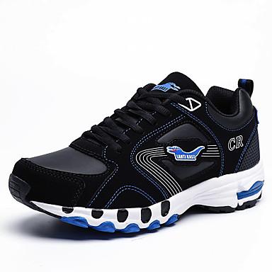 Homens sapatos Tule Primavera Verão Solados com Luzes Tênis Cadarço para Atlético Preto/Vermelho Azul e preto