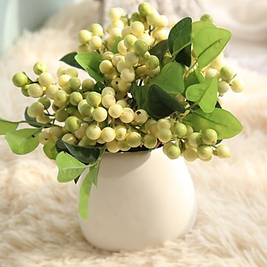 Artificial Flowers 1 Branch Pastoral Style Plants Tabletop Flower