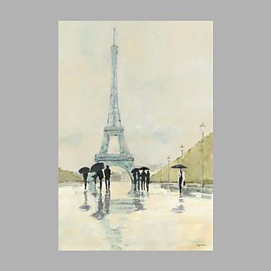 Hang-Painted öljymaalaus Maalattu - Maisema Abstrakti Kangas