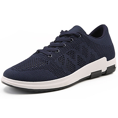 Men's Shoes Tulle Spring Fall Comfort Sneakers Lace-up for Outdoor Black Gray Blue