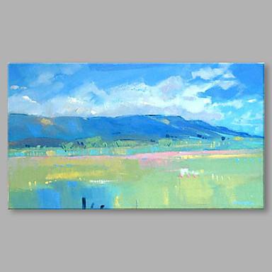 Håndmalte Landskap Vannrett, Kunstnerisk Lerret Hang malte oljemaleri Hjem Dekor Et Panel
