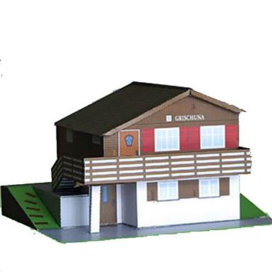 Quebra-Cabeças 3D Artesanato de Papel Quadrada Construções Famosas Casa Arquitetura 3D Simulação Faça Você Mesmo Cartão de Papel Duro