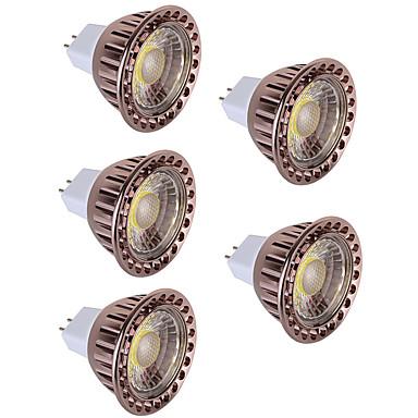 5pçs 5W 350lm MR16 Lâmpadas de Foco de LED 1 Contas LED COB Decorativa Branco Quente / Branco Frio 12V / RoHs