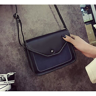 Women Shoulder Bag PU Polyester All Seasons Casual Outdoor Square Zipper Blue Red Arm Green