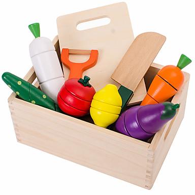 Conjuntos Toy Cozinha Comida de Brinquedo Brinquedos de Faz de Conta Brinquedos Vegetais Cortadores de Frutas e Vegetais Frutas e