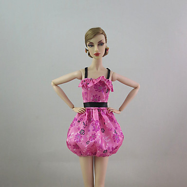 Puff Ball Skirt Dress For Barbie Doll For Girl's Doll Toy