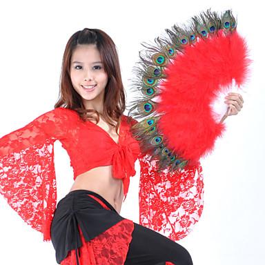 Dança do Ventre Acesssórios de Palco Mulheres Espetáculo Penas Penas