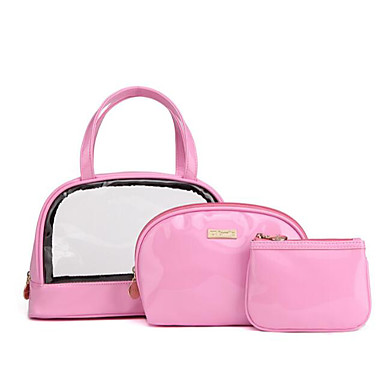 Unisex Bags PVC PU Cosmetic Bag for Casual Outdoor All Seasons Blue Red Blushing Pink Yellow