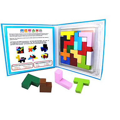 Tetris Blocos de Construir Quebra-Cabeça Quadrada Legal Crianças Brinquedos Dom