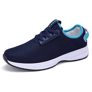 Miesten kengät Kangas Kevät Syksy laahustaa saappaat Comfort Urheilukengät Solmittavat varten Urheilullinen Valkoinen Musta Sininen