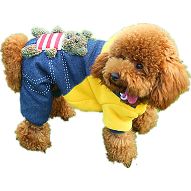 Dog Jumpsuit Dog Clothes Casual/Daily Cartoon Yellow Red Costume For Pets