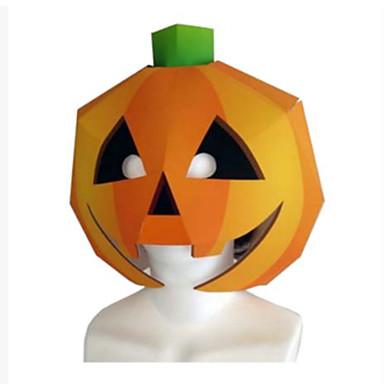 Haloween-masker Papirkunst Leketøy GDS Gresskar Hardt Kortpapir Horrortema Klassisk Deler Unisex Halloween Barne Gave