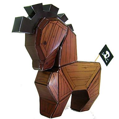 Quebra-Cabeças 3D Quebra-Cabeça Maquetes de Papel Brinquedos de Montar Cavalo Artigos de mobiliário Faça Você Mesmo Clássico Adorável