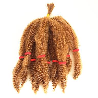 Krøllet Afro 100% kanekalon hår Hairextensions med menneskehår Afro Frekke Fletter Hårfletter Daglig