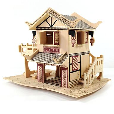 3D Puzzles Wood Model Model Building Kit Famous buildings House Architecture 3D DIY Wood Classic Unisex Gift