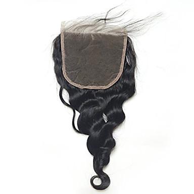 povoljno Perike i ekstenzije-Labav val 5x5inch zatvaranje čipke zatvaranje dlačica s dlakom kosom