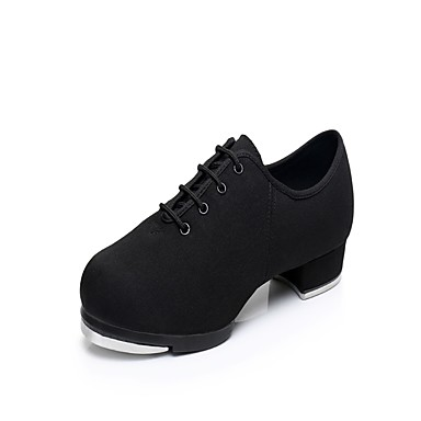 Men's Tap Shoes Oxford Heel / Sneaker Low Heel Dance Shoes Black / Practice