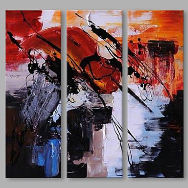 Hang festett olajfestmény Kézzel festett - Absztrakt Művészi Vászon / Nyújtott vászon