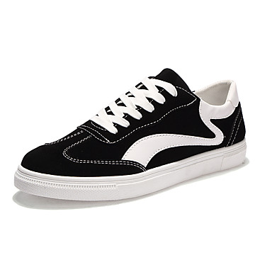 Men's Shoes PU Spring Fall Comfort Sneakers for Casual Black Gray Red