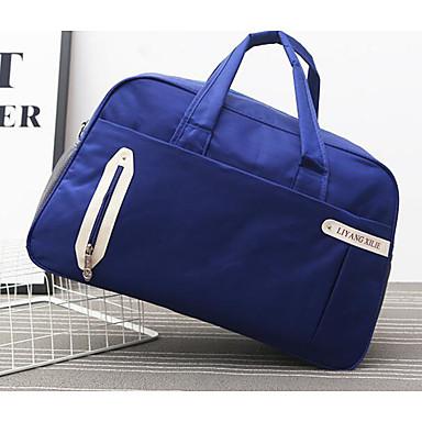 Men Travel Bag Oxford Cloth Polyester All Seasons Casual Outdoor Rectangle Zipper Blue Black Fuchsia