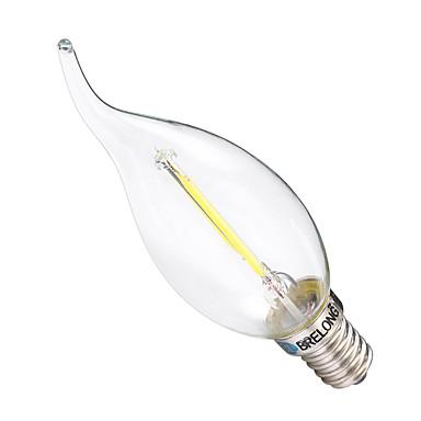 BRELONG® 1pç 2W 200 lm E14 Lâmpadas de Filamento de LED C35 2 leds COB Regulável Branco Quente Branco AC 220-240V