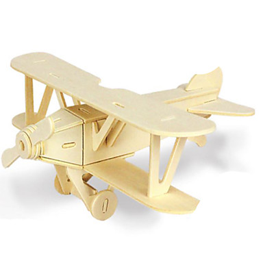 3D Puzzles Jigsaw Puzzle Metal Puzzles Wood Model Model Building Kit Plane / Aircraft 3D DIY Wood Natural Wood Classic Kid's Adults'