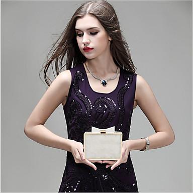 Women's Bags leatherette / PC Evening Bag Zipper Plaid / Check White