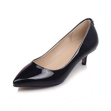 Mulheres Sapatos Couro Ecológico Courino Primavera Verão Inovador Conforto Saltos Caminhada Salto Agulha Dedo Apontado Poa para Festas &