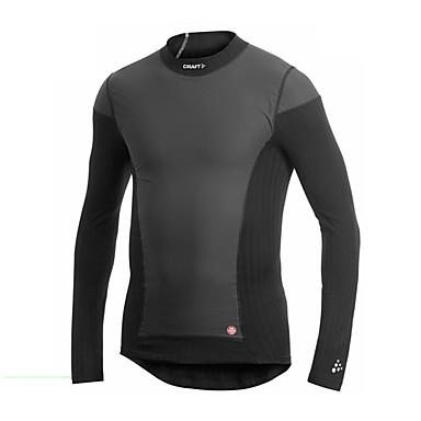 Men's Running T-Shirt Long Sleeves Fitness, Running & Yoga Windproof Sweatshirt Top for Running/Jogging Exercise & Fitness White Black